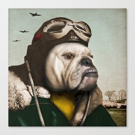 "Wing Commander, Benton ""Bulldog"" Bailey of the RAF Canvas Print"