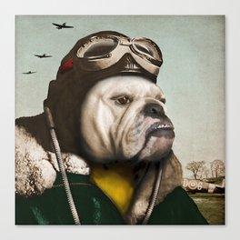 "Wing Commander, Benton ""Bulldog"" Bailey of the RAF Canvas Print"