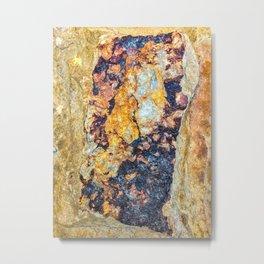 Stone Bronze Metal Print