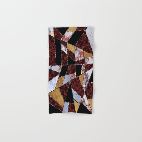 Abstract #459 Stone and Metal Shards Hand & Bath Towel