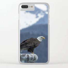 Bald Eagle of Resurrection Bay, No. 1 Clear iPhone Case