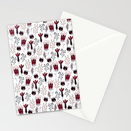 Winter Garden Pattern Stationery Cards