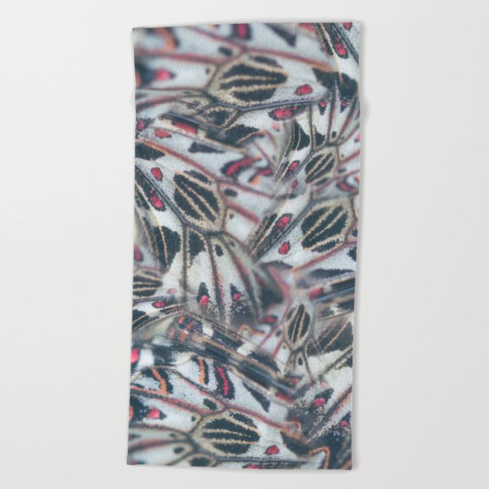 Butterflies Print Beach Towel