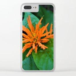 Orange Trumpet Flower Clear iPhone Case