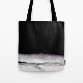 black and gray abstract landscape painting Tote Bag