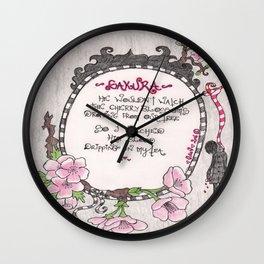 Hanging Sakura - Venus de Vilo Wall Clock