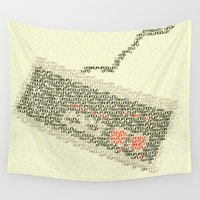 code Wall Tapestries featuring Konami Code by Robotic Ewe