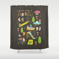 play Shower Curtains featuring Play by Reg Silva / Wedgienet.net