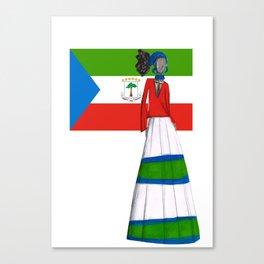 Guinea Ecuatorial Glam Canvas Print