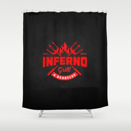 Inferno Grill and Kitchen Shower Curtain