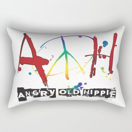 Angry Old Hippie Rectangular Pillow