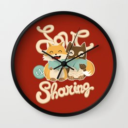 Love is Sharing Wall Clock