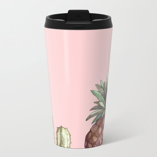 cactu and pineapple Metal Travel Mug