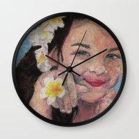 child Wall Clocks featuring child by Caterina Zamai