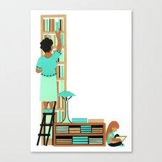 L as Libraire (Bookseller) Canvas Print