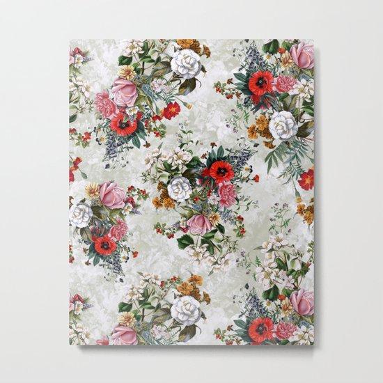 Botanical Flowers IV Metal Print