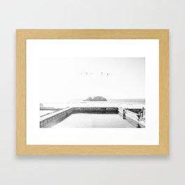 Sutro Baths B&W Framed Art Print
