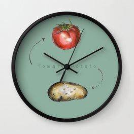 Tomato Potato Wall Clock