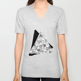 The Blurry Triangles Unisex V-Neck