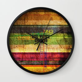 OVC text Wall Clock