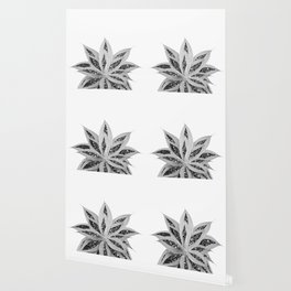 Gray Agave with Black Silver Glitter #1 #shiny #tropical #decor #art #society6 Wallpaper