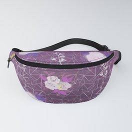 Purple floral geometric pattern Fanny Pack