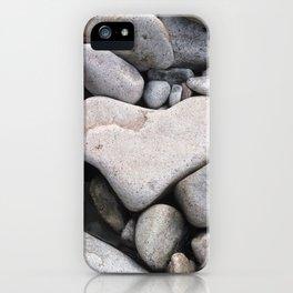 Heart Shaped Rock iPhone Case