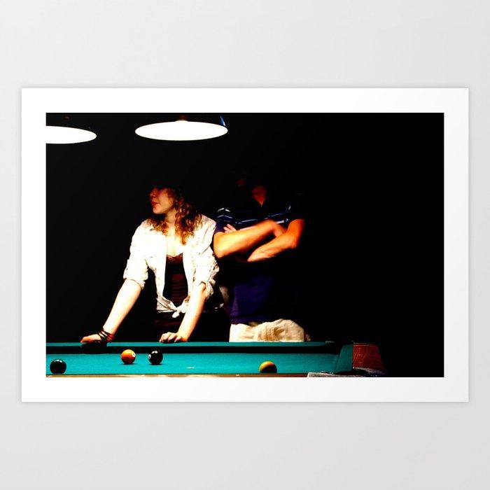 Bar Folks   The Pool Table Art Print