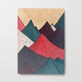 Vintage Mounts Metal Print