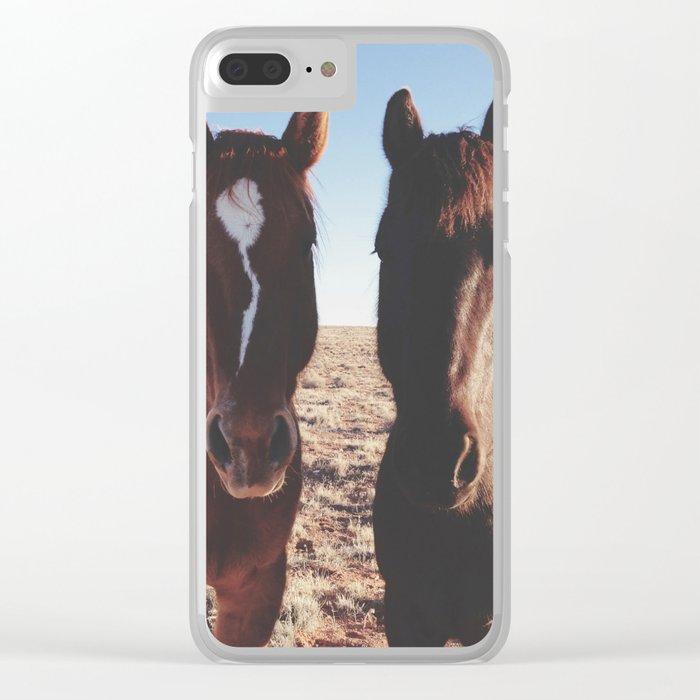 Horse Friends Clear iPhone Case
