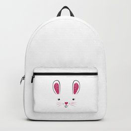 Happy Easter Bunny Face Backpack