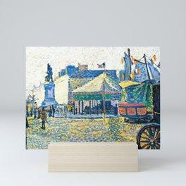 "Paul Signac ""Place de Clichy"" Mini Art Print"