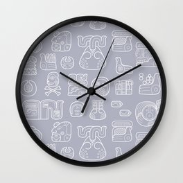 Picto-glyphs Story Wall Clock