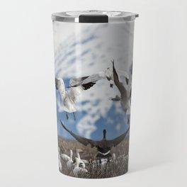 Scattering Geese Travel Mug