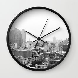 Lower East Side Skyline #3 Wall Clock