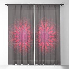Riveting Rose Sheer Curtain