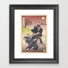 Wolverine Japanese style Framed Art Print