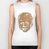 jfk Biker Tanks featuring Forever Old | JFK by teokon
