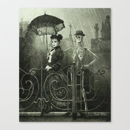 Dark Victorian Portrait: Lady Charlotte Nightshade and her Attendant Canvas Print