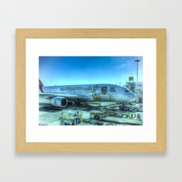 Emirates Airbus A380-800 Framed Art Print