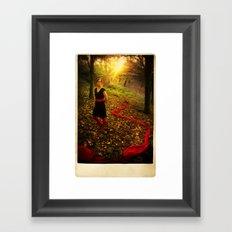 Lizzie Nunnery in the Garden Framed Art Print