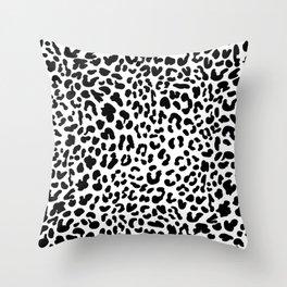 Black & White Leopard Skin Throw Pillow