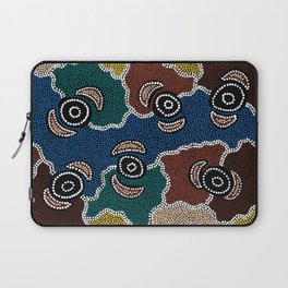 Authentic Aboriginal Art - Riverside Dreaming Laptop Sleeve