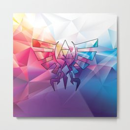Zelda Triforce colorful Diamond Metal Print