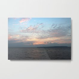 Early Morning Sunrise over Lake Huron Metal Print