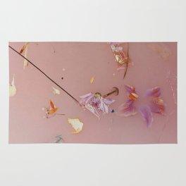 Harry Styles - pink flowers album Rug