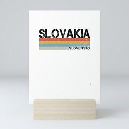 Slovakia- Slovensko Language Retro Vintage Stripes Product Mini Art Print