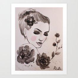 Rose Lady Art Print