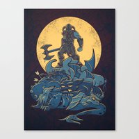 skyrim Canvas Prints featuring The Dragon Slayer by Fanboy30