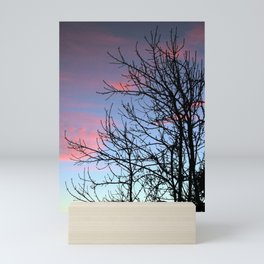 Skyscapes Pink Skies Silhouette Mini Art Print